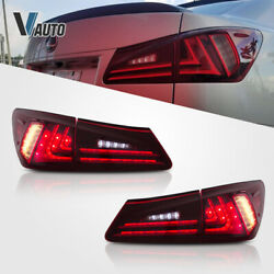 VLAND LED Red Tail Lights Conversions Fit For Lexus IS250 IS350 ISF 2006 2012 $279.99