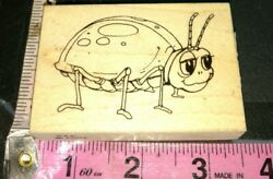 Ladybug cartoon LG VIP visual image printery000woodenrubberstamp