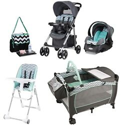 Baby Stroller with Infant Car Seat High Chair Playard Diaper Bag Travel System $419.99