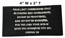 Joshua Verse 1:9 Embroidered Iron or Sew-on Patch Christian Morale Tactical