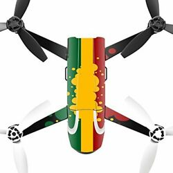 MightySkins Skin Compatible with Parrot Bebop 2 Quadcopter Drone wrap Cover Stic