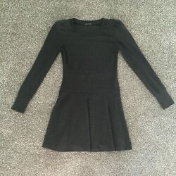 She's Story Padded Shoulder Fit and Flare Skater Mini Dress Size 4 6 Small