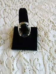 Nicky Butler Sterling Silver Faceted Smokey Quartz Ring Size 9