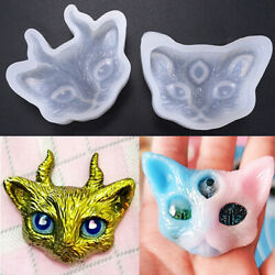 Cat with Horn or Eye Silicone Jewelry Tool Resin Epoxy Molds For Jewelry Making
