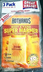HotHands SUPER Hand and Body Warmers 3 Pack deal Safe Natural Odorless Heat  $9.89