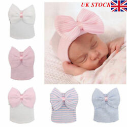 Hospital Newborn Baby Girl Beanie Knit Hat With Bow Soft Toddler Cap Chic