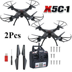 2Pcs X5C-1 Drone RC Quadcopter Explorers 2.4Ghz 4CH 6-Axis  with HD Camera WW $29.99