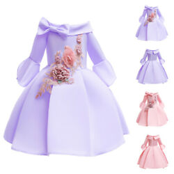 Flower Girls Bridesmaid Dress Party Evening Wedding Pageant Formal For Kids Gown $19.94