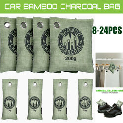 24 Air Purifying Bag Purifier Nature Fresh Charcoal Bamboo Mold Freshener Bags $20.99