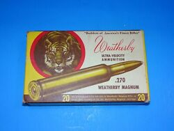 WEATHERBY .270 MAGNUM EMPTY AMMO BOX. WINSTER EMPTY. TIGER BOX.