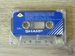Vintage 80s Rare SHARP Genuine DEMO TapeDemonstration Audio Cassette by GF-8787