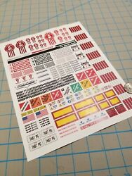 New Kenworth Scale Semi Tractor Truck Decals for 1:12 1:14 16 RC with Extras $12.75