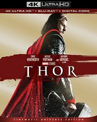 THOR 4K UHD + BLU-RAY + SLIPCASE NO DIGITAL COPY MCU MARVEL LIKE-NEW FREE SHIP