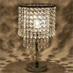 European Crystal Bedroom Bedside Decorate Desk Lamp Creative Fashion Table Lamp $89.99