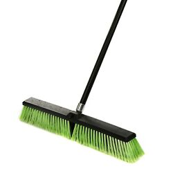 Alpine Industries 24 in. Green Multi Surface Commercial Push Broom 3 Pack