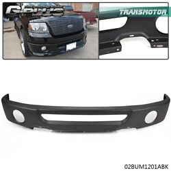 For 2006-2008 Ford F150 Front Bumper Face Bar Primed Black With Fog Lamp Hole