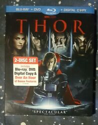 THOR [Blu-ray + DVD] w Slipcover Marvel NO DIGITAL DOWNLOAD