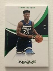 2017-18 Panini Immaculate Emerald FOTL Jimmy Butler 88 First Off The Line