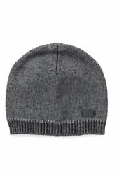 John Varvatos Star USA Rib Knit Beanie Gray