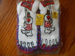 Vintage PLAN AHEAD Boys Slipper Socks Size Small 7 7.5 NIP $4.00
