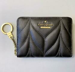 KATE SPADE New York NWT $129 Leather Dani Briar Lane Quilted Zip Around Wallet