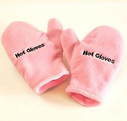 Microwave Therapeutic Hot Cold Gloves Pink Warm Ease Inflammation Swelling NEW $15.96
