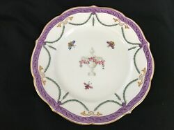 ANTIQUE ROYAL WORCESTER FOR MORTLOCK'S OXFORD STREET  HAND PAINTED PLATE