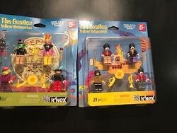 K'NEX BEATLES Mini-Figures - YELLOW SUBMARINE & SGT PEPPER'S -8 KNEX FIGURES NEW