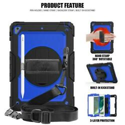 360 Rotating Stand Cover with Pencil Holder Screen Hand Strap for iPad Case $25.98