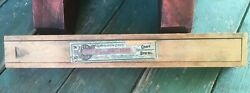 Antique Or Vintage Small Wood Keen Kutter Files Finger Jointed Slide Top Box