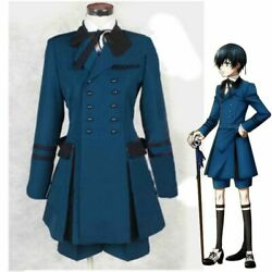Unisex Black Butler Ciel Phantomhive Cosplay Costume Full Set Outfit Dress Suit