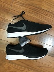 Mens Nike Flyknit Trainer Running Shoes size 12 Black White Grey  AH8396 007
