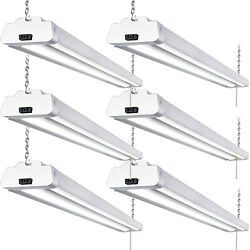 Hykolity 4FT LED Shop Light 42W Linkable Garage Workshop Basement Fixture 6 Pack