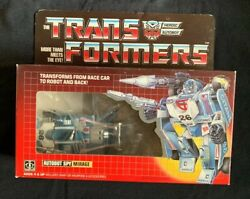 1984 G1 Transformer  ⚙️AUTOBOT SPY MIRAGE⚙️  In Original Box  ~Preowned~