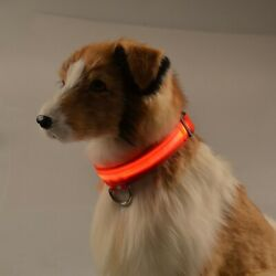 USB Rechargeable LED Dog Light Up Safety Collar Night Glow Adjustable Bright $7.69