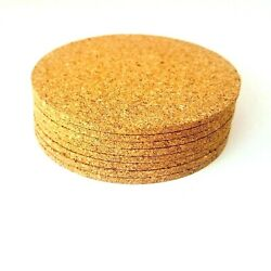 1pc4pc10pc12pc Cork Coaster Heat Resistant Natural Beverage Mat Ships from US