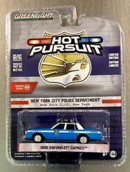 GREENLIGHT 1990 CHEVY CAPRICE NYPD HOT PURSUIT SERVE AND PROTECT FREE SHIPPING.