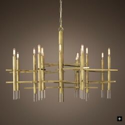"Rsstoration Hardware 40"" Lynx Chandelier. NEW in Open Box! Gorgeous Light!"