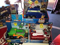 Paw Patrol Vehicle Ultimate Rescue Chase Rocky and Marshall with pups
