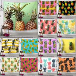 Pineapple Hippie Tapestry Wall Hanging Living Room Drom Decor Throw Beach Towel $14.78