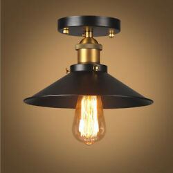 Ceiling Vintage Light Retro Glass Lampshade Fixture For Living Room Bedroom New $36.19