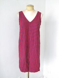 Vineyard Vines red blue stripe cotton jersey tank dress vacation resort beach S $16.00