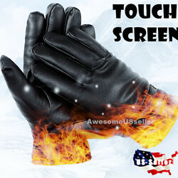 Men Women Winter Gloves Touch Screen Snow Windproof Waterproof Leather Thick USA $11.94