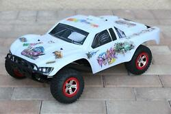Custom Body Graffiti White for Traxxas 1/10 Slash 4x4 VXL Slayer Shell Cover $34.98