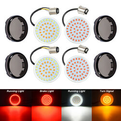LED Turn Signals Lights Smoke Lens 1157 White Amber Red Fit for Harley Softail $28.70