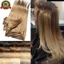 CLEARANCE Clip In 100% Real Remy Human Hair Extensions Full Head Highlight US Ss $11.30