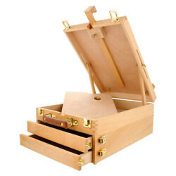 Portable Wooden French Tripod Easel Sketch Table Box Folding Durable Art Painter