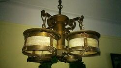 Arts and Crafts Mission Hanging Chandelier $1675.00