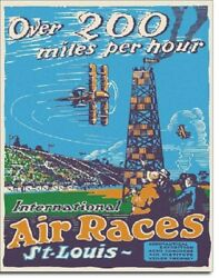 Air Races Airplane Vintage Aviation Flying Flight Wall Art Decor Metal Sign $15.99