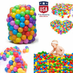 1000PCS Colorful PE Ocean Ball Soft Baby Kids Funny Swim Pit Pool Toy US STOCK